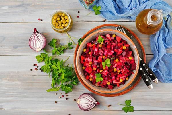 Vinegret salati tayyorlash - retsepti, bosqichlari + rasmlari, foydali tavsiyalar